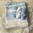 Blanket And Crochet Mice Rattle Gift Set