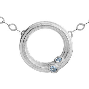 Aquamarine And Silver Swirl Necklace - women's jewellery