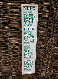 The Shipping Forecast Print 100cm - home accessories