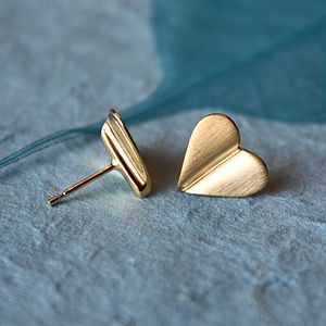 'Love Grows' 9ct Gold Heart Earrings - fine jewellery