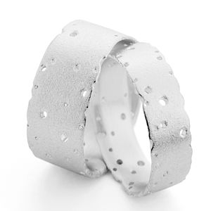 Patterned Silver Band - fine jewellery