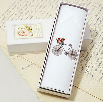 Women's Hankie: Bicycle With Flowers