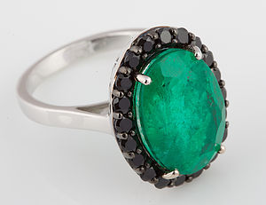 Oval Emerald Green Quartz Ring - women's jewellery