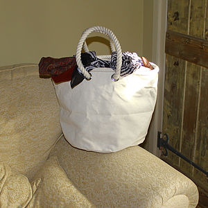 Canvas Shopper Bag, Medium