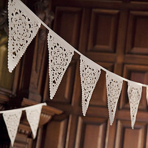 Lace Wedding Bunting - outdoor decorations