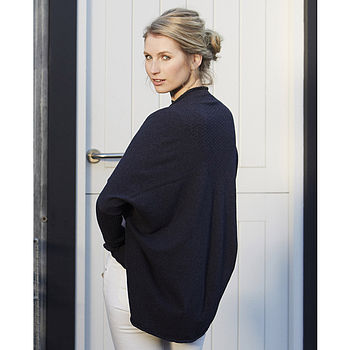 Organic Cotton Shrug Cardie - Denim
