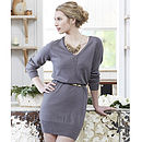 Organic Cotton Slouch Dress - Flint Grey