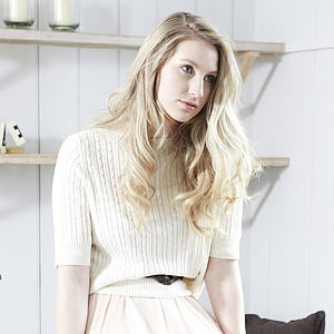 65% Off Organic Cotton Cable Top - jumpers & cardigans
