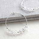 Earrings Made With Swarovski Crystals In A Clear Shade