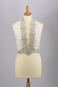 Beaded And Feather Waistcoat - wedding fashion