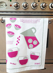'Mulled Wine' Recipe Tea Towel - tableware