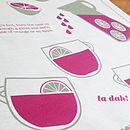 'Mulled Wine' Recipe Tea Towel