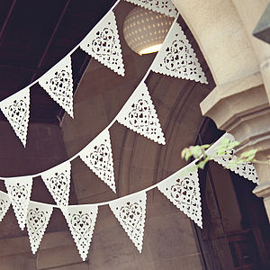 Love Bird Wedding Bunting - outdoor decorations