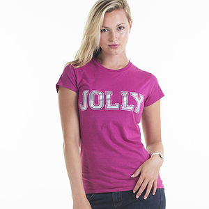 Women's Jolly Slogan Christmas T Shirt - tops