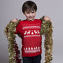 Childrens reindeer Tshirt - Red