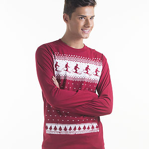 Men's Ski Long Sleeved T Shirt - christmas parties & entertaining