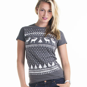 Women's Christmas Reindeer T Shirt - last-minute christmas decorations