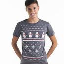 Mens Snowman Christmas T Shirt