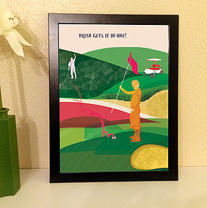 Personalised Golf Poster