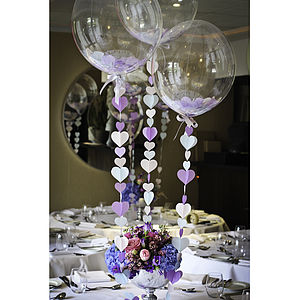 Hearts Table Centre Trio - bunting & garlands