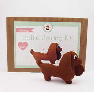 Make Your Own Sausage Dog Sewing Kit - view all gifts for her