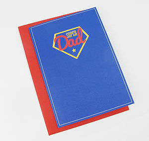 Super Dad Greeting Card - view all sale items