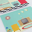 Pack Of Two Retro Home Themed Greeting Cards