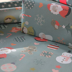 Large Christmas Wrapping Paper Pack - cards & wrap