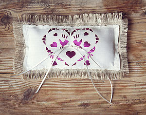 Love Bird Wedding Ring Cushion