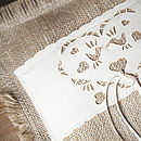 Fringed Burlap Wedding Ring Cushion