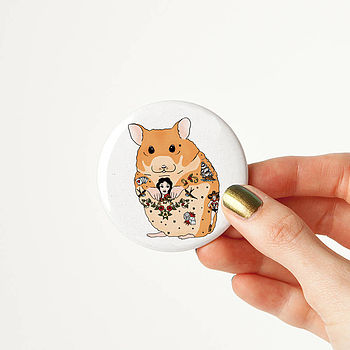 Hamster Tattoo Pocket Mirror