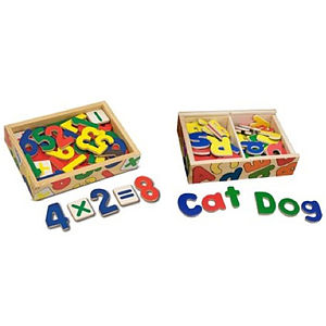 Magnetic Bright Coloured Wooden Letters And Numbers - educational toys