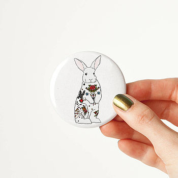 Rabbit Tattoo Pocket Mirror