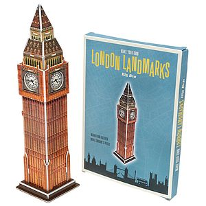 Make Your Own London Landmark Big Ben - toys & games