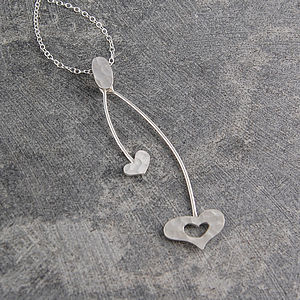 Heart Swing Sterling Silver Necklace - necklaces & pendants