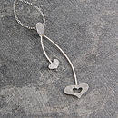 Heart Swing Sterling Silver Necklace