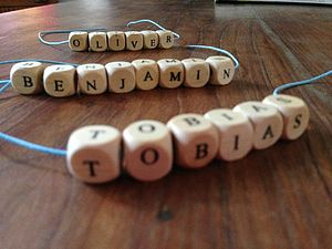 Wooden Name Bracelet