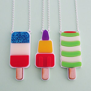 Retro Ice Lolly Necklace