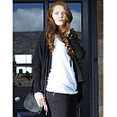 Organic Cotton Shrug Cardie - Jet