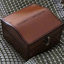 Personalised Gents Curved Leather Stud Box