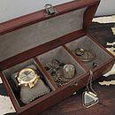 Unisex Leather Curved Jewel Box