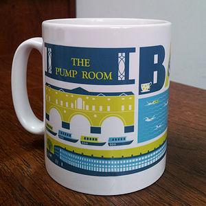 Bath City Typographic Mug