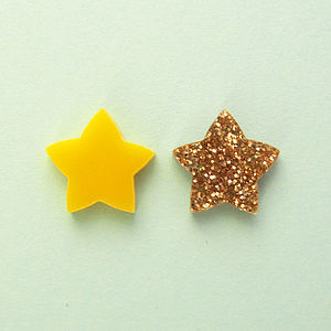 Star Stud Earrings - earrings