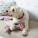 Union Jack Squeaky Dog Bone Toy