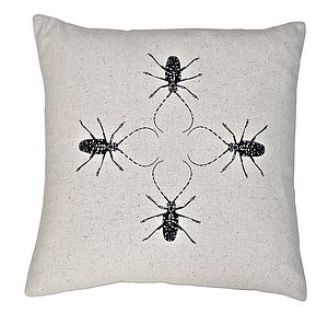 Solli Baile Beetles Silk Cushion - cushions