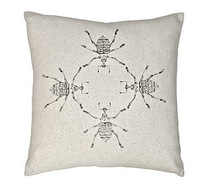 Eupholus Baile Beetles Silk Cushion - patterned cushions