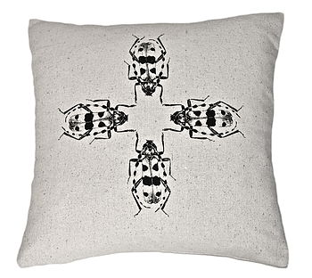 Alpina Baile Beetles Silk Cushion