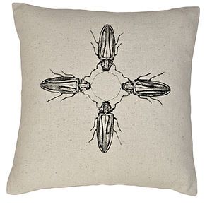 Assamansis Baile Beetle Silk Cushion - cushions