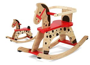 Wooden Rocking Horse - traditional toys & games
