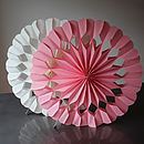 Paper Luxe Heart Giant Fan Decorations